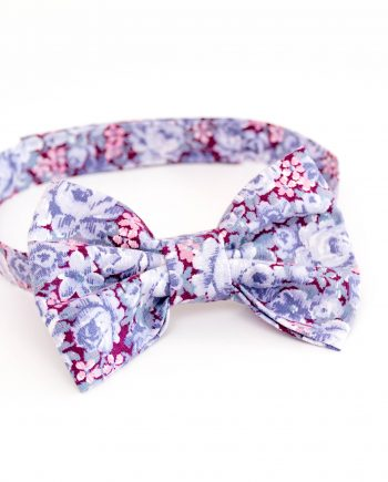 Blue Floral patten baby boy bow tie