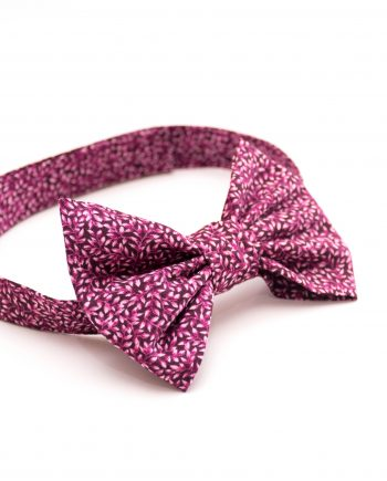 Burgundy leaves patten baby boy bow tie