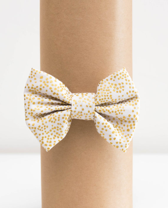 Blush Champagne Metallic dots baby boy bow tie