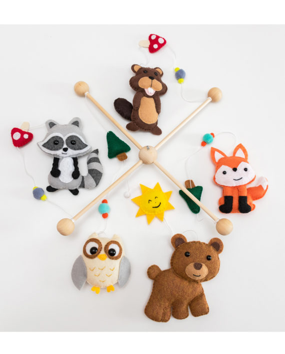 Baby Crib Mobile Forest Animals